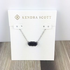 Kendra Scott Ever black silver necklace